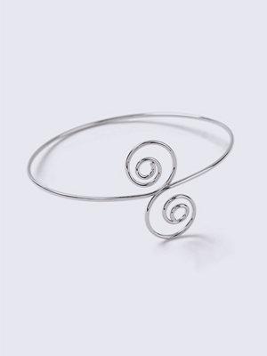Gina Tricot armband Silver Look Swirl Armcuff