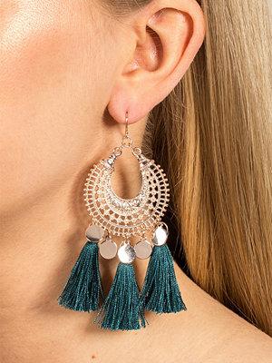 Gina Tricot örhängen Ethnic Emerald Tassel Earrings