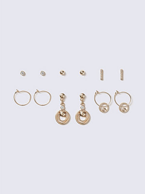 Gina Tricot örhängen Chunky Crystal Multipack Earrings