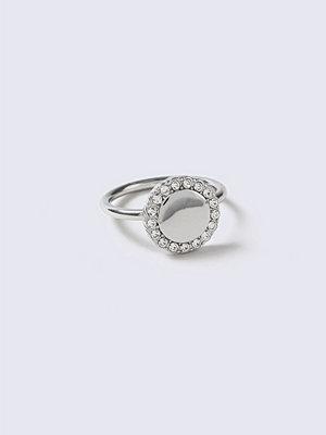 Gina Tricot Rhinestone Disc Ring