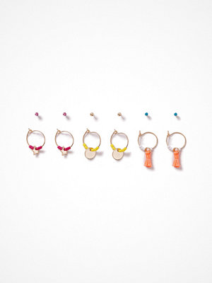 Gina Tricot örhängen Bright Mulit Hoop And Stud Earrings Pack