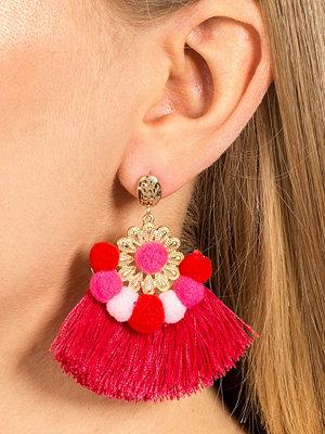 Gina Tricot örhängen Fuchsia Statement Pom Tassel Earrings