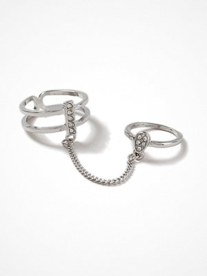 Gina Tricot Rhodium Chain Link Ring
