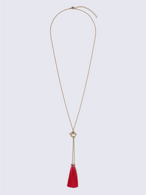 Gina Tricot halsband Two Tassel Fuchsia Necklace