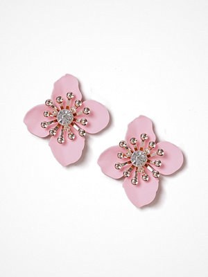 Gina Tricot örhängen Pastel Pink Flower Large Stud Earrings
