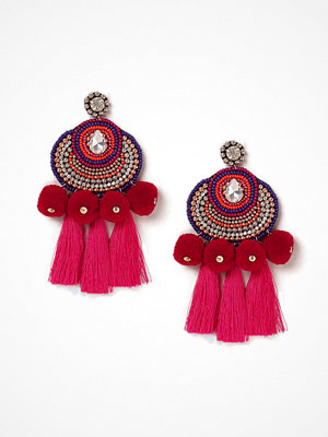 Gina Tricot örhängen Pink Statement Beaded Earrings