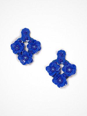 Gina Tricot örhängen Blue Flower Sequin Earrings