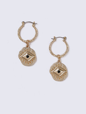 Gina Tricot örhängen Gold Look Ethnic Eye Earrings