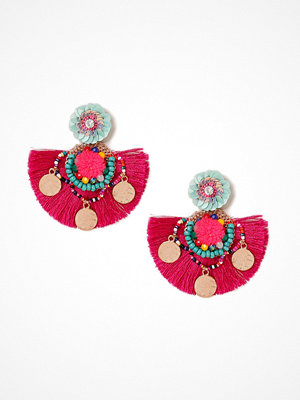 Gina Tricot örhängen Pink Statement Sequin Tassel Earrings