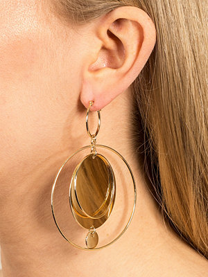 Gina Tricot örhängen Circle Disc Statement Earrings