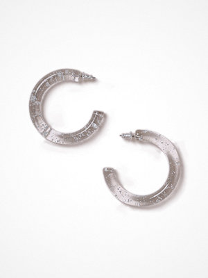 Gina Tricot örhängen Gold Flake Resin Hoop Earrings