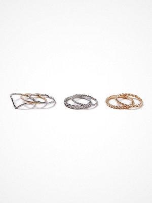 Gina Tricot Mixed Metal Ring Multipack