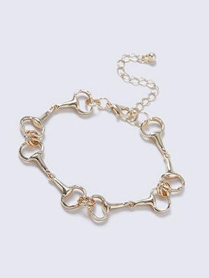 Gina Tricot armband Gold Look Horsebit Link Wristwear