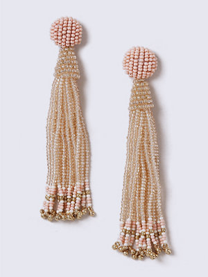 Gina Tricot örhängen Pink Beaded Tassel Earrings