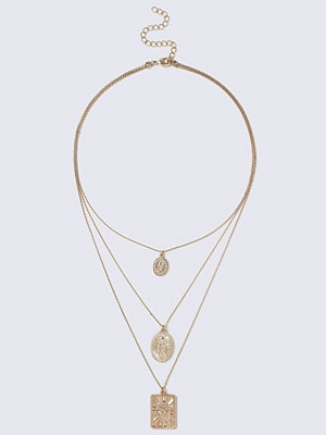 Gina Tricot halsband 3 Coin Multirow Necklace