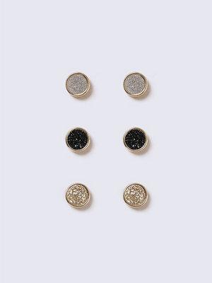 Gina Tricot örhängen Gold Look Glitter Stud Earring Pack