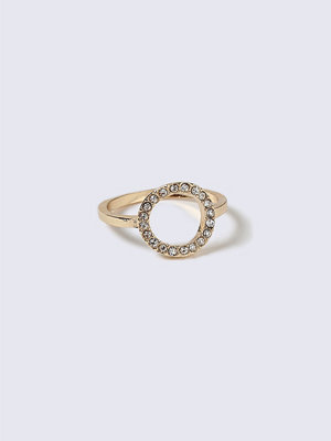 Gina Tricot Gold Look Equestrian Circle Ring