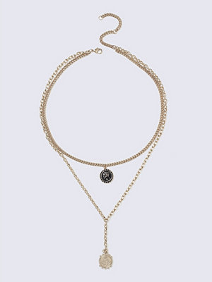 Gina Tricot halsband Enamel disc Necklace