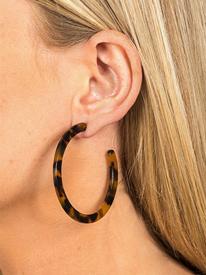 Gina Tricot örhängen Thin Torteshell Hoop Earrings