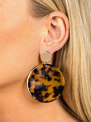 Gina Tricot örhängen Toirtoiseshell Disc Drop Earrings