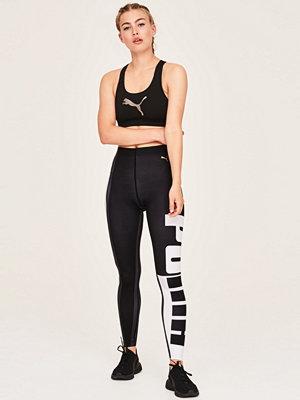 Gina Tricot svarta byxor med tryck Varsitytight