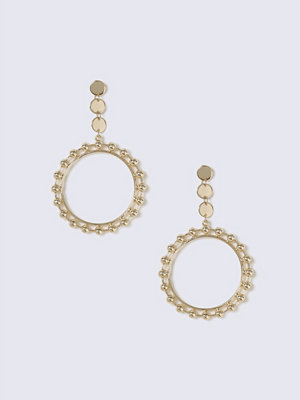 Gina Tricot örhängen Gold Look Open Circle Drop Earring