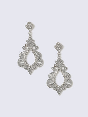 Gina Tricot örhängen Silver Look Crystal Cut Out Drop Earring