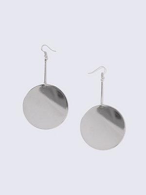 Gina Tricot örhängen Silver Look Large Flat Circle Drop Earring