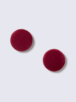 Gina Tricot örhängen Large Velvet Stud Earrings