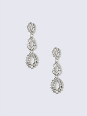 Gina Tricot örhängen Silver Look Crystal Tear Drop Earring