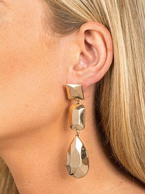 Gina Tricot örhängen Gold Look Shape Drop Earring