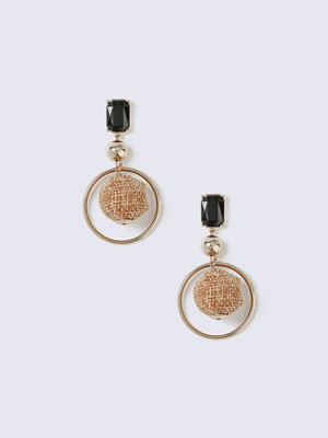 Gina Tricot örhängen Gold Look Fabric Ball Drop Earring