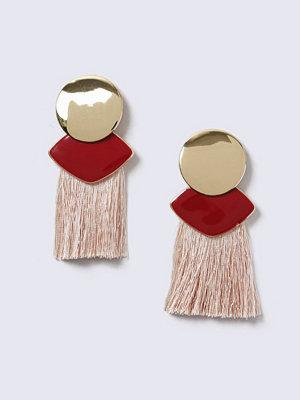 Gina Tricot örhängen Gold Look Shape Drop With Tassel