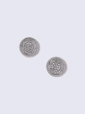 Gina Tricot örhängen Silver Look Crystal Detail Stud