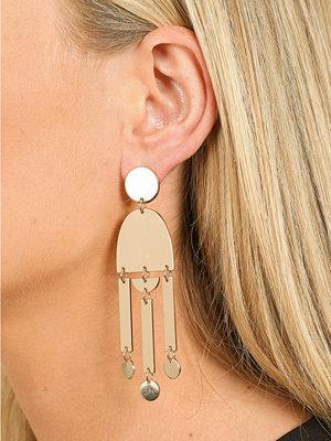 Gina Tricot örhängen Gold Look Geo Shape Drop Earring