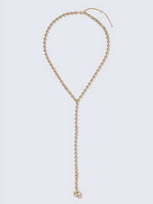 Gina Tricot halsband Gold Look Ball Chain Lariat