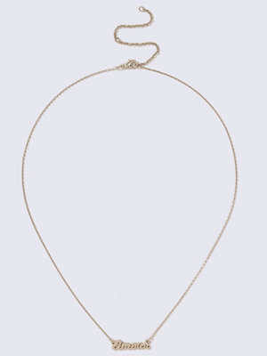Gina Tricot halsband Gold Look Amour Short Necklace