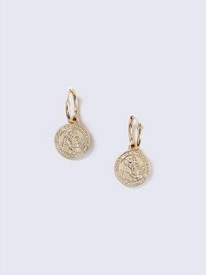Gina Tricot örhängen Gold Look Mini Coin Hoop