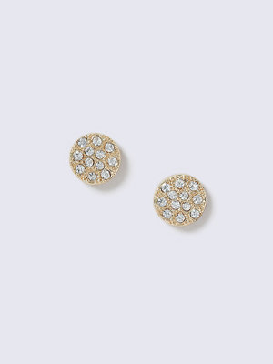 Gina Tricot örhängen Gold Plated Pave Crystal Stud Earrings