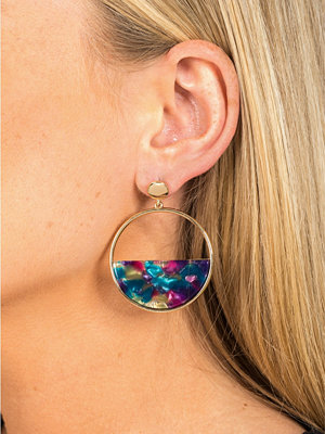 Gina Tricot örhängen Gold Look Half Circle Earrings