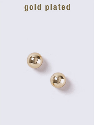 Gina Tricot örhängen Gold Plated Small Ball Stud Earrings