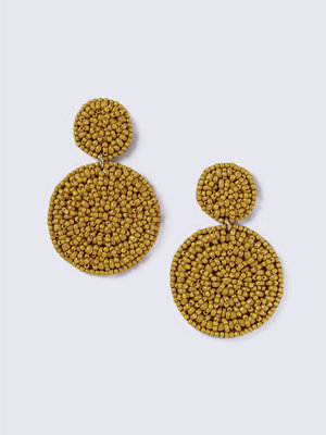 Gina Tricot örhängen Mustard Beaded Drop Earring