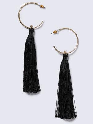 Gina Tricot örhängen Gold Look Tassel Hoop Earrings