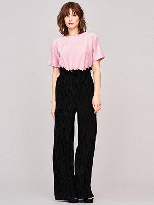 Gina Tricot svarta byxor Millie frill trousers
