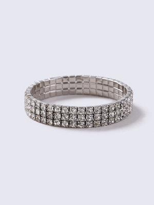 Gina Tricot armband Silver Look Three Bar Rhinestone Wristwear