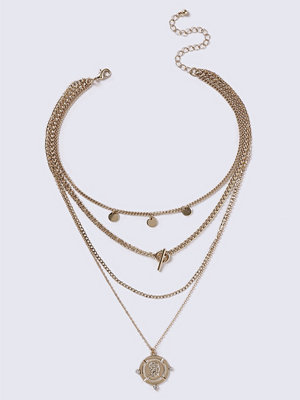 Gina Tricot halsband Gold Look Multi Coin Necklace