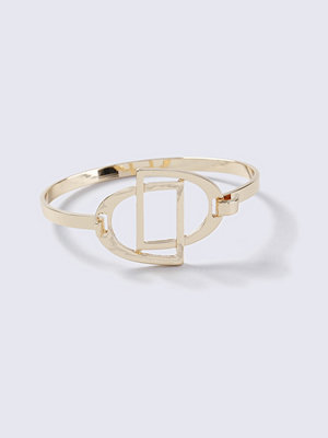 Gina Tricot armband Equestrian Gold Double Stirrup Bangle