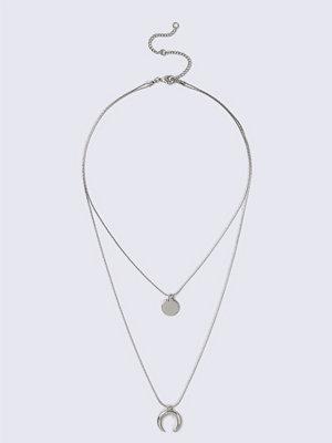 Gina Tricot halsband Rhodium Multirow Necklace