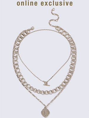 Gina Tricot halsband Gold Look T-Bar Coin Necklace