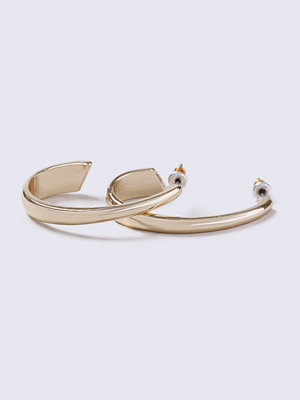 Gina Tricot örhängen Gold Look Half Hoop Earrings